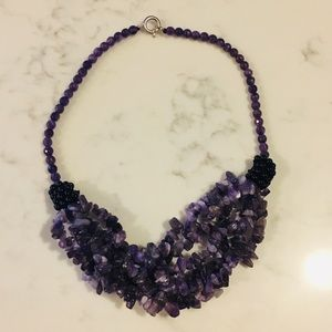 Jewelry - REAL black spinel/amethyst necklace.